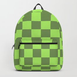 green chess - green squares Backpack