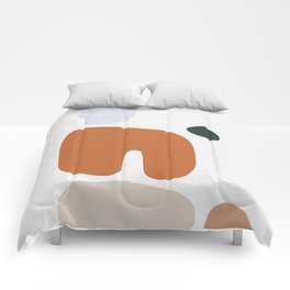 Abstract Shape Series - Boulders Comforters
