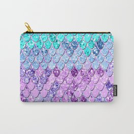 Mermaid Scales with Unicorn Girls Glitter #9 #shiny #decor #art #society6 Carry-All Pouch
