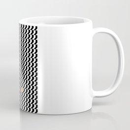 Orange: Black And White Pattern Coffee Mug