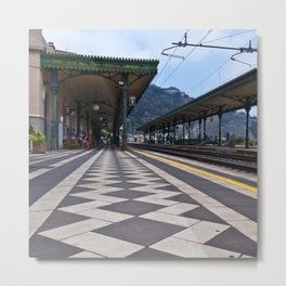 Train Station of Giardini Naxos in Sicily Metal Print