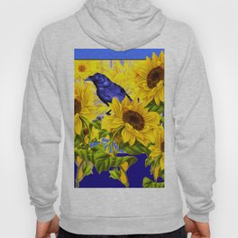 ARTISTIC BLUE CROW SUNFLOWERS CONCEPT Hoody