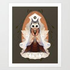Ytuty Lord of Owls Art Print