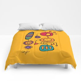 Feather Flower Chime in Color Comforters