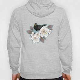 Waiting for the cherries I // Blackbirds blue background Hoody