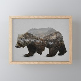 The Kodiak Brown Bear Framed Mini Art Print
