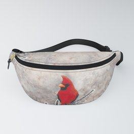 The Red Cardinal in winter Fanny Pack