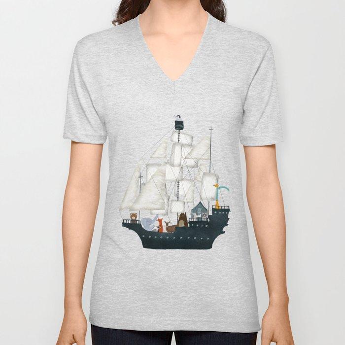 a nautical adventure Unisex V-Neck