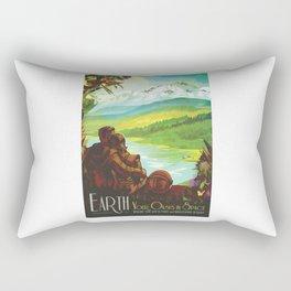 Earth - NASA Space Travel Poster Rectangular Pillow