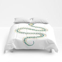 Snake Skeleton – Emerald & Gold Comforters