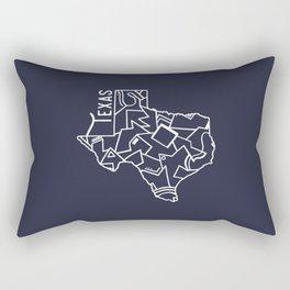 Texas Strong (Dark Blue) Rectangular Pillow