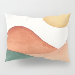 Colorful Abstract Mountains Pillow Sham
