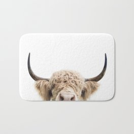 Peeking Highland Cow Bath Mat