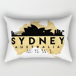 SYDNEY AUSTRALIA SILHOUETTE SKYLINE MAP ART Rectangular Pillow