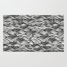 black oil river Rug