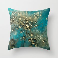 Bold Blue Dandy Sparkles Throw Pillow