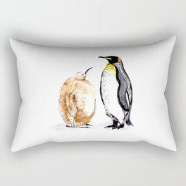 King Penguin and Chick Rectangular Pillow