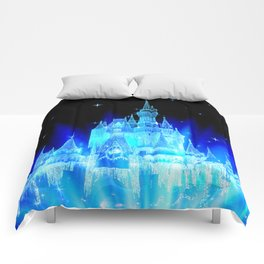Blue Ice Frozen Enchanted Castle Comforters