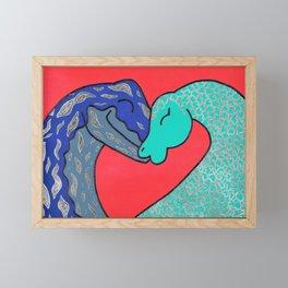 Nessie finds love Framed Mini Art Print