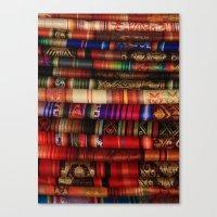 blankets Canvas Prints featuring Handmade Blankets by rhamm
