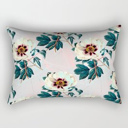Flowery blooming with geometric Rectangular Pillow