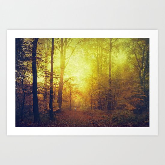 Sanguine Woods Art Print