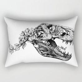 Jurassic Bloom - The Rex.  Rectangular Pillow