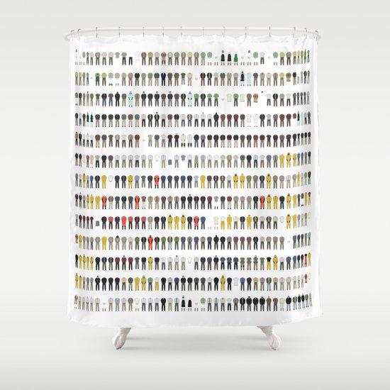 Walter White's Wardrobe - Complete Series Shower Curtain