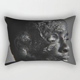 Profile In Pain Rectangular Pillow