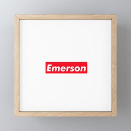 Emerson Framed Mini Art Print
