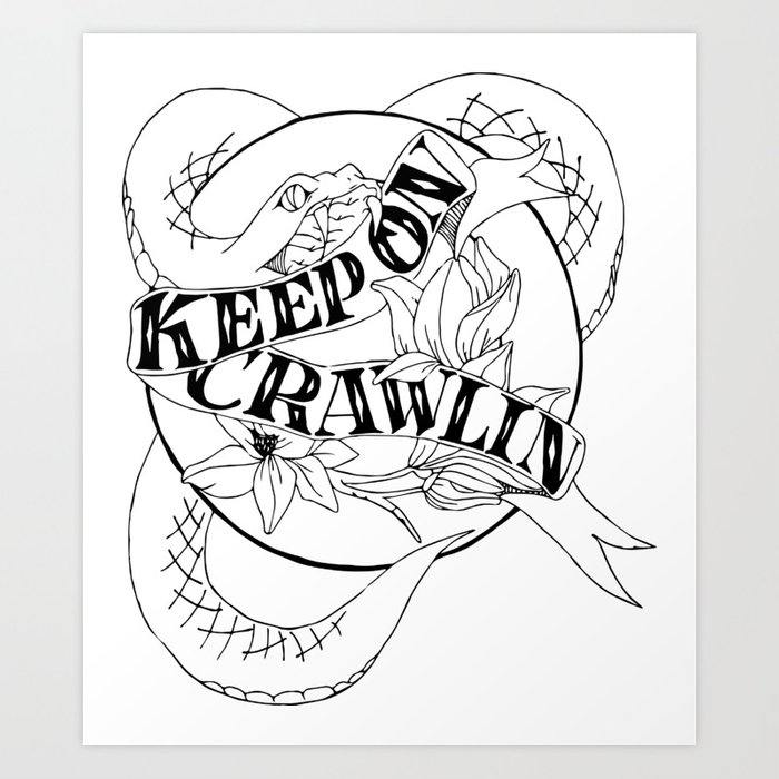 Crawling King Snake Art Print