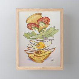 Egg sammich! Framed Mini Art Print