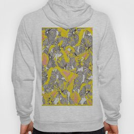 Floral Butterfly Frenzy Yellow/Pink Hoody