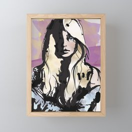Blonde Framed Mini Art Print