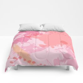 Pink Skies Abstract Comforters