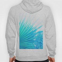 Solar Summer Fan Palms - Blue and Aqua Hoody