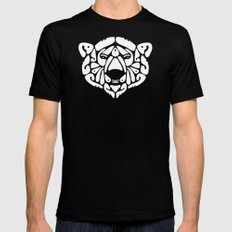 An Béar Bán (The White Bear) Black LARGE Mens Fitted Tee