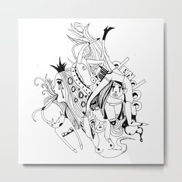 Visual Throwup Metal Print