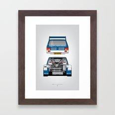 Outline Series N.º7, MG Metro 6R4, 1986 Framed Art Print