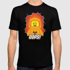 Oops! Black 2X-LARGE Mens Fitted Tee