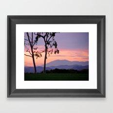 Saddleback Sunset Framed Art Print