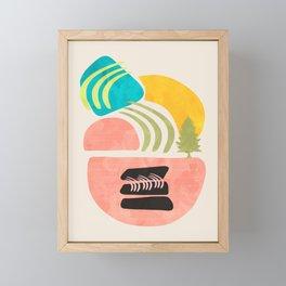 Modern shapes 1 Framed Mini Art Print