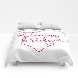 Team Bride - Bachelorette Hen Bridal Party Alcohol Comforters
