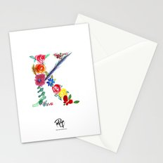 monograms - K Stationery Cards