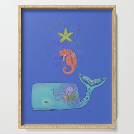 Colorful Sea Family  Serving Tray