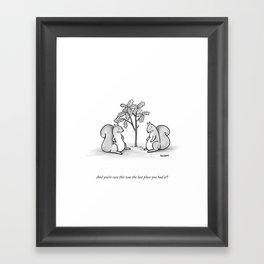 Forgetful Squirrel Framed Art Print