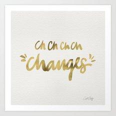 Bowie – Gold Ink Art Print