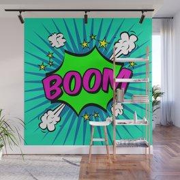 Boom Blue Boom Wall Mural