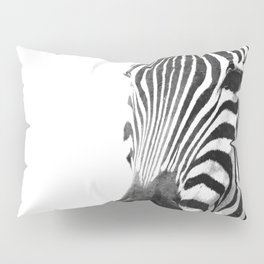 Black and white zebra illustration Pillow Sham