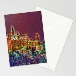 Castle On The Mountain Graphic Art Design | Digital Art | Painting Stationery Cards